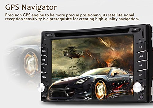 New Version ! 800MHZ CPU !!! GPS Navigation Car Radio 6.2 Inch Car DVD Player Touch Screen Stereo Bluetooth Autoradio In Dash Headunit Car Video Player by EinCar (Image #3)