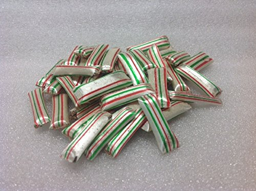 (Old Fashion Chocolate Mint Straws 1 pound red green white striped)