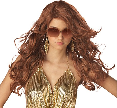 Auburn Red Sexy Super Model Wig Costume (Super Model Wig Auburn)