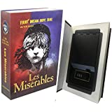 Real Paper Book Locking Booksafe with Key Lock Dictionary Secret Hidden Safe (Les Miserables) (Combo Lock)