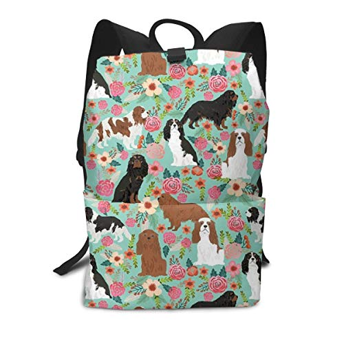 Backpack Cavalier King Charles Spaniel With Side Pockets Unisex Fits 15.6 Inch Laptop Backpack