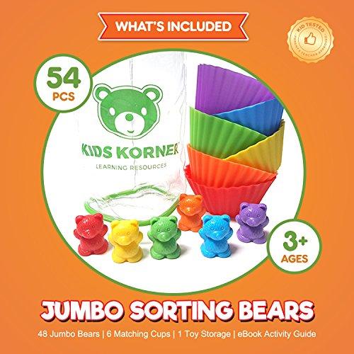 Jumbo Sorting And Counting Bears