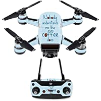 Skin for DJI Spark Mini Drone Combo - Coffee Understands Me| MightySkins Protective, Durable, and Unique Vinyl Decal wrap cover | Easy To Apply, Remove, and Change Styles | Made in the USA