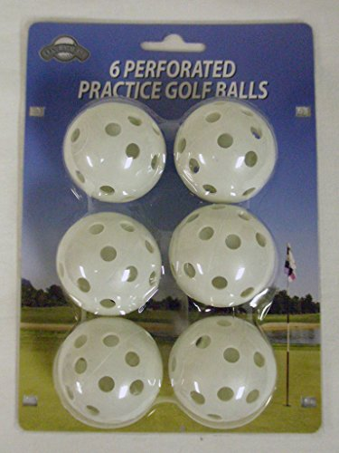 On Course Perforated Practice Golf Balls (6pk) Plastic Ball New by OnCourse