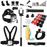 Deyard Pro11 GoPro Accessories Bundle Kit for GoPro Hero 5 Session Hero 4 Session, Hero 5 4 3 GoPro Hero Mounts Kit for Xiaomi Yi Action Camera Also for Sony Action Camera