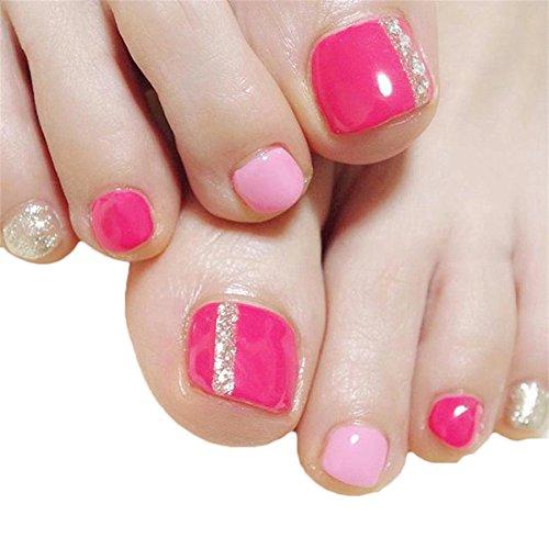 Amazon.com : 24pcs Short Square Fake Toe Nail Tips with Design Press on  Toenails with Glue False Foot Nails : Beauty - Amazon.com : 24pcs Short Square Fake Toe Nail Tips With Design Press