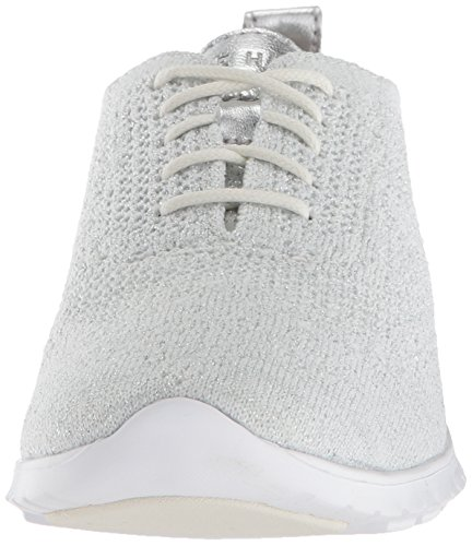 Oxford Chalk Cole Zerogrand Women's Stitchlite Knit Haan Metallic Silver Opt wq67qI