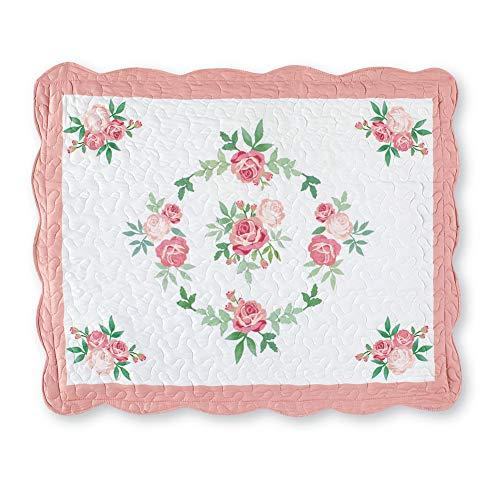 Collections Etc Pink Rose Garland Pillow Sham Pink SHAM (Garland Winston)