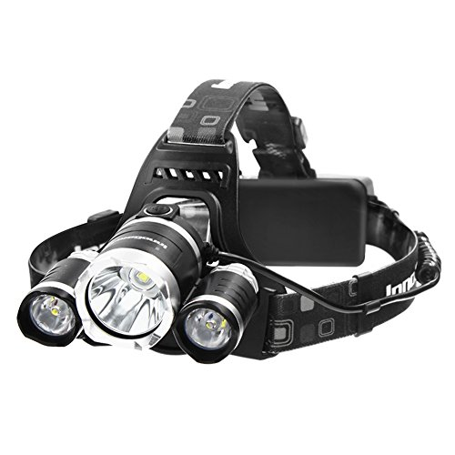InnoGear-5000-Lumen-Bright-Headlight-Headlamp-Flashlight-Torch-3-XM-L2-T6-LED-with-Rechargeable-Batteries-and-Wall-Charger-for-Hiking-Camping-Riding-Fishing-Hunting