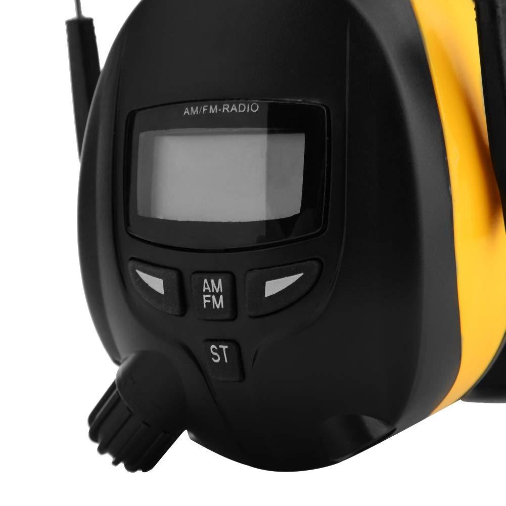 NRR 28dB Protector electr/ónico de audici/ón Pantalla LCD Radio Am FM Orejera Topiky Radio Orejeras Protecci/ón auditiva