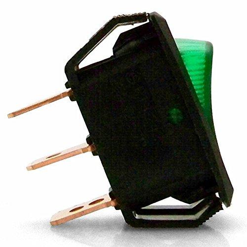 Keep It Clean 126060 Green 25 Amp/12V Illuminated Rocker Switch 4