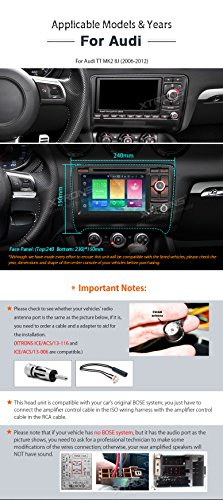 XTRONS 7 Inch Android 6.0 Octa-Core Capacitive Touch Screen Car Stereo Radio DVD Player GPS CANbus Screen Mirroring Function OBD2 Tire Pressure Monitoring for Audi TT MK2 by XTRONS (Image #2)