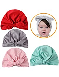 Baby Cap Knotted Bohemian Hat Photography Props accessories 4-Pack Kids Bonnet