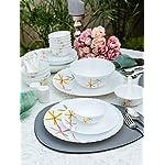 La Opala Glass Dinner Set – 35 Pieces, White
