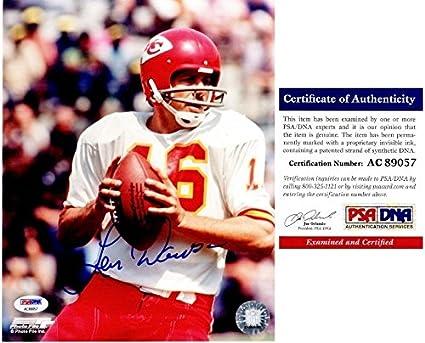 4a7d2a8e8 Len Dawson Autographed Photograph - 8x10 Super Bowl IV Champion Certificate  of Authenticity COA) -