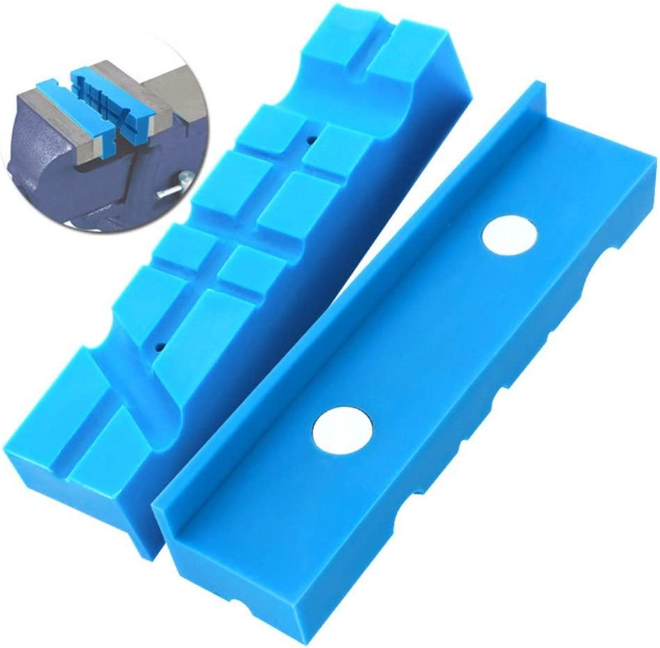 Orange Clamp Flat or Round Products Boliaman Magnetic Soft Vise Jaws Multipurpose 4.5 Use on Any Metal Vise Available in 4 or 6 Magnetic Reversible Pads