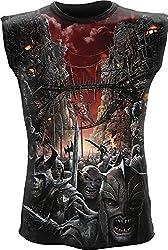 Spiral - Mens - DEVILS PATHWAY - Allover Sleeveless T-Shirt Black - XL