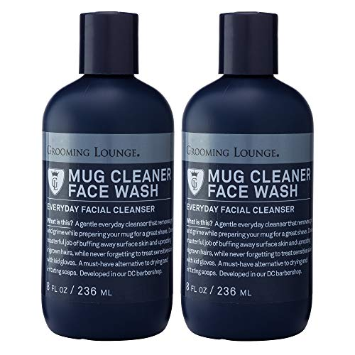 Grooming Lounge Mug Cleaner Face Wash, Gentle Daily Facial Cleanser, 8 oz, 2-Pack