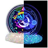 Mythical Slyme DIY Unicorn Galaxy Putty - Rainbow Glow in The Dark Glitter Slime with Blacklight Included