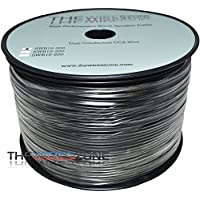 The Wires Zone SWB16-500 True 16 Gauge 500 PVC Super Flex Speaker Wire for Home/Car Audio, Black