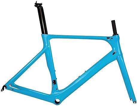 Cuadro de bicicleta de carretera de carbono completo DI2 y maquinaria de bicicleta de carretera de carbono BB86 50.5/53/56 cm Garantía de 2 años (Azul),53cm: Amazon.es: Bricolaje y herramientas