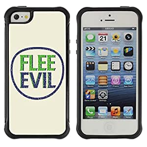 LASTONE PHONE CASE / Suave Silicona Caso Carcasa de Caucho Funda para Apple Iphone 5 / 5S / BIBLE Flee Evil
