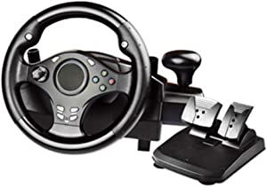 270 Degree Motor Vibration Driving Gaming Racing Wheel,with Responsive Gear and Pedals for PC / PS3 / PS4 / Xbox One/Xbox 360 / Switch/Android