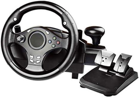 WDLY 270 Grados Motor De Vibración Volante De Carreras De Conducción del Juego, con El Engranaje De Respuesta Y Pedales para PC / PS3 / PS4 / Xbox One/Xbox 360 / Conmutador/Android: