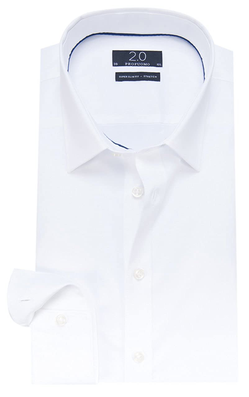 PROFUOMO Super Slim Fit Hemd Herren Weiß Bekleidung Hemden