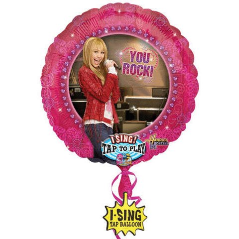 Hannah Montana Mylar Foil Singing Balloon