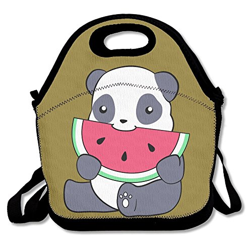 Mkajkkok Panda And A Watermelon Lunch Tote Lunch Bags With Neoprene