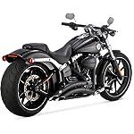 Vance-Hines-Big-Radius-2-in-2-Black-for-Harley-Davidson-Softail-13-15