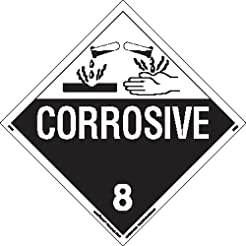 Labelmaster Z-EZ4 Corrosive Hazmat Placa...