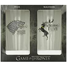Game of Thrones Pint Glass, Set of 1 (Stark/Baratheon)