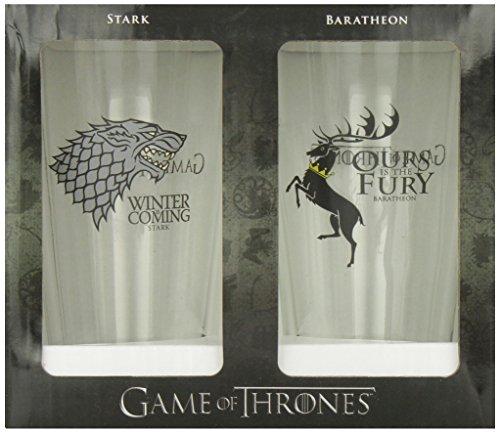Dark Horse Deluxe Game of Thrones Pint Glass Set: Stark and Baratheon