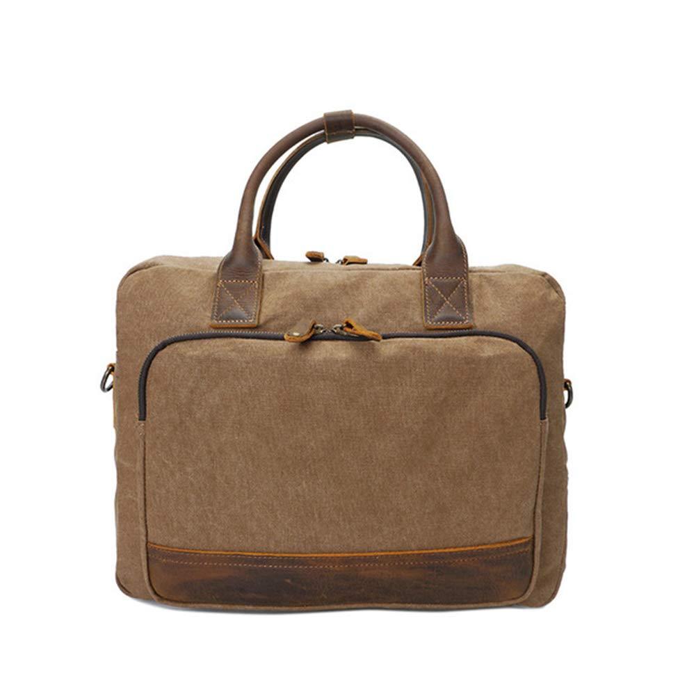 HXZB Mens Canvas Handbag Retro Messenger Briefcase Men Business Bag