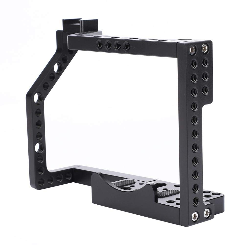 Diyeeni 1/4'' Screw Multiple Holes Camera Cage Camera Stablilizer Cage for Photography Lovers,Aluminium Alloy Metal Camera Cage Rig for Panasonic GH4/5 by Diyeeni