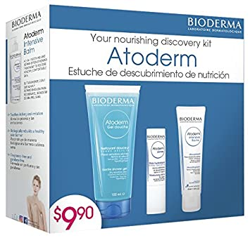Bioderma Atoderm Discovery Kit for Dry to Very Dry and Atopic Skin (Value Pack)