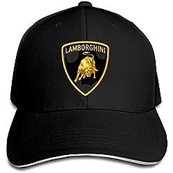 MaNeg Lamborghini Logo Sandwich Peaked Hat & Cap