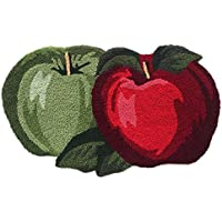 Ustide Fruit Rug Apple Orchard Bath Rug/Kitchen Area Rug 17.7x 31.49