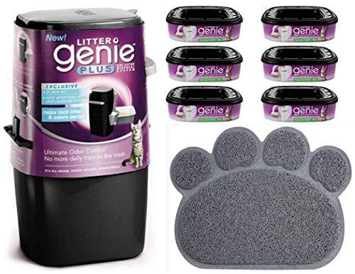 Cat Litter Waste Disposal System Black Bundles (Pail W/ 6pk Bundle)