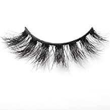 Arimika Handmade 3D Mink Fake Eyelashes -Reusable with Sturdy Flexible Band, Lightweight Fluffy Natural Look,Cruelty Free