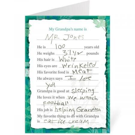 Amazon.com: Llenar en tarjeta de día del padre de 5
