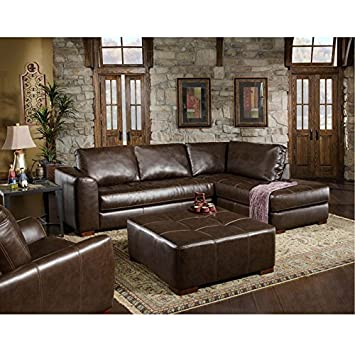 chelsea home furniture fairfax 2piece sectional capri dark brown