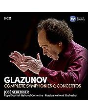 Glazunov: Complete symphonies & Concertos (8CD)