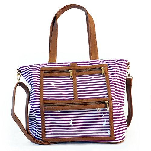Got Oil Supplies Essential Oils Travel Bag 16 Pouches for Oil Bottles Purple