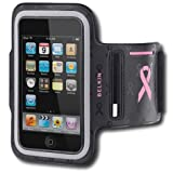 Belkin Dual Fit Armband for iPod touch 2G and 3G, Black/Hot Pink