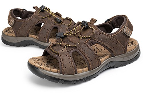 Mens Outdoor Sports Anti-slip Sandals Open Toe Fisherman Style Water Shoes Brown jleN60Q