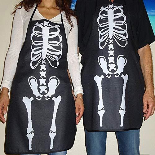 Unisex Apron - Bright Bones Skeleton Women Men Halloween Fancy Dress Costume Unisex Apron - Cooking Apron Bulk Back Fancy Pockets Cross Aprons People Dress -