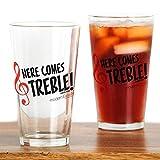 CafePress - Modern Family Treble - Pint Glass, 16 oz. Drinking Glass